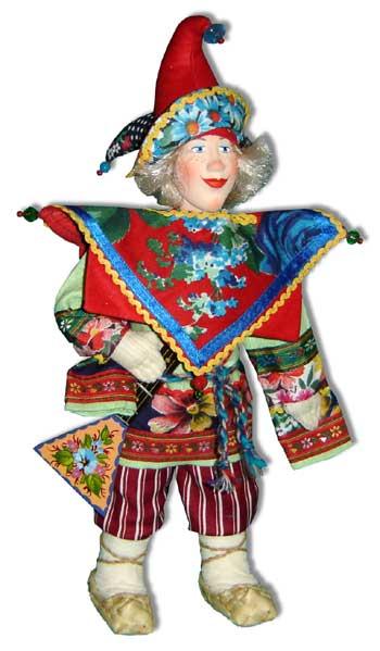 Кукла скоморох своими руками мастер класс 54