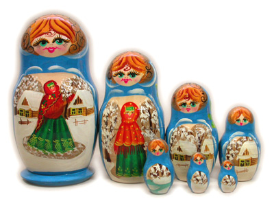 Матрешка Сергиево Посадская 7 мест Сюжетная (933)