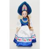Кукла фарфоровая H-8676A В синем...