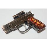 Зажигалка пистолет, с красным лазером