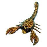 Хохлома сувенирная Скорпион, шкатулка