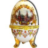 """Яйцо пасхальное фарфоровое 085W-34-18-20 рисунок 4""""ХВБ - Коллаж""""..."""
