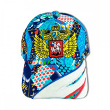 Головной убор Бейсболка Россия Орел, вышивка, абстр. рис.