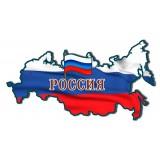 Магнит карта России, флаг России