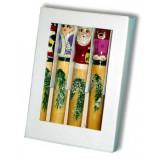 Новый Год и Рождество набор крандашей Дед Морозы, коробка