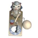 Богородская игрушка Кот рыболов точенка
