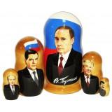 Матрешка политические лидеры Путин мал.