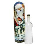 Матрешка Футляр для бутылки Новогодний со снеговиком круговой 0,7