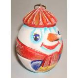 Новый Год и Рождество елочная игрушка яйцо резное Снеговик ПГ