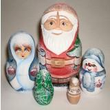 Новый Год и Рождество 5 мест резная Дед Мороз мал. ПГ
