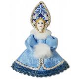Кукла малая белоголубой наряд, мех,...
