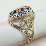 Финифть кольцо Ажурное