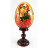 Яйцо пасхальное деревянное Казанская божия матерь