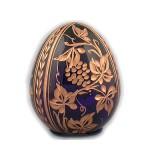 Яйцо пасхальное стеклянное малое синее
