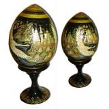 Яйцо пасхальное деревянное Русский север (Холуй)