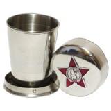 Сувенир с Российской и Советской символикой стакан малый, складной,...