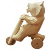Богородская игрушка Мишка мотоциклист