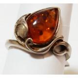 Янтарь кольцо Р0108