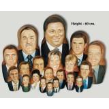 Матрешка по заказу клиента портретная 9 мест, (9 портретов  по...