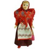 Кукла фарфоровая праздничный костюм,...