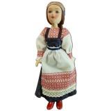 Кукла фарфоровая девичий костюм Коми