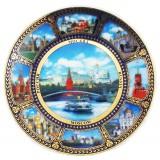 """Магнит керамический 026-7K8-17 тарелка D7 К8 """"Москва"""" фарф..."""