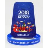 Чемпионат мира по футболу 2018 браслет синий, резиновый