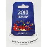 Чемпионат мира по футболу 2018 браслет белый, резиновый