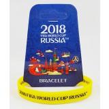 Чемпионат мира по футболу 2018 браслет желтый, резиновый