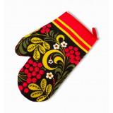 Текстиль руковица Хохлома