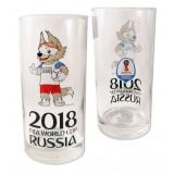 Чемпионат мира по футболу 2018 ЧМ2018 стакан стеклянный, 0.33 л.