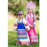 Русский народный костюм ФАРТУКИ розовый, 115 см