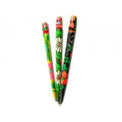 Ручка матрешка Майдан деревянная