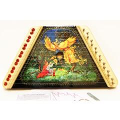 Музыкальный инструмент гусли сувенирные, муз. карта, медиатр, запасная струна