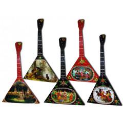 Музыкальный инструмент балалайка сувенирная средняя