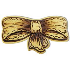 Береста заколка для волос Бабочка