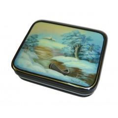 Шкатулка лаковая Федоскино Пейзаж в упаковке в ассорт. 10 х 7 см (1883)