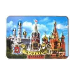 """Магнит прессованный 025-1-19K7 """"Москва. Коллаж ХВБ"""" горизонтальный"""