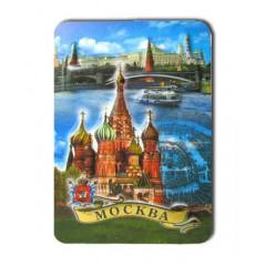 """Магнит прессованный 025-1-19K9 """"Москва. Коллаж ХВБ, панорама"""""""