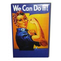"""Магнит металлический 02-34-041 мет. плоский """"We can do it"""""""