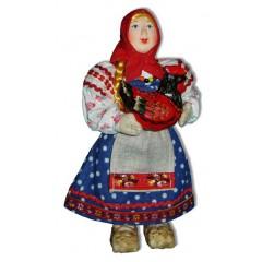 Кукла авторская Галина Масленникова А2-8-1 Девочка с курицей