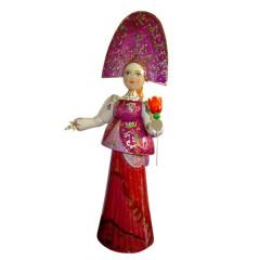 Кукла деревянная большая - 30, ручная работа, роспись