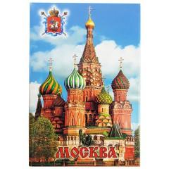 Магнит металлический 02-19 Москва, Храм Василия Блаженного, плоский, фото