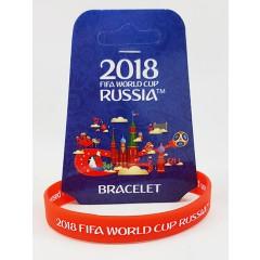 Чемпионат мира по футболу 2018 браслет красный, резиновый