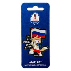 Чемпионат мира по футболу 2018 ЧМ2018 Магнит Забивака с флагом, ПВХ