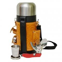 Подарок с гравировкой Подарки для мужчин Наборы для пикника Походные фляги и термосы 040505051, Термос  1,2л в чехле