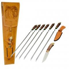 Подарок с гравировкой Наборы для пикника Наборы шампуров для шашлыка 040505038, Набор Шампуров для пикника