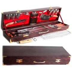 Подарок с гравировкой Наборы для пикника Наборы шампуров для шашлыка 040505012, Набор для пикника №7 в футляре