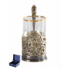 Подарок с гравировкой Подстаканники Подстаканники латунные Художественное литье 050103037, Подстаканник Водолей