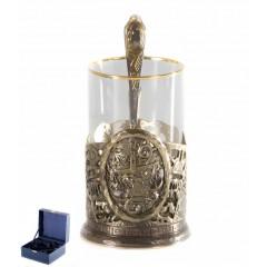 Подарок с гравировкой Подстаканники Подстаканники латунные Художественное литье 050103033, Подстаканник Весы